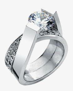 This ct has a raised setting showing off the stunning diamond it features. Make it or melt it? This ct has a raised setting showing off the stunning diamond it features. Make it or melt it? Diamond Rings, Diamond Engagement Rings, Diamond Jewelry, Jewelry Rings, Jewelry Accessories, Fine Jewelry, Stylish Jewelry, Silver Jewellery, Silver Earrings