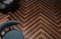 Gradient Wood Flooring Designs - The DIESEL LIVING x BERTI 'Shadow' Flooring is Intentionally Faded (GALLERY)