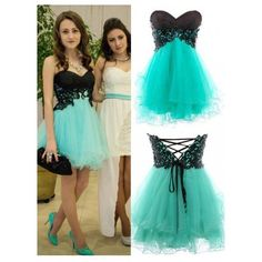Princess Strapless Short/Mini Organza Blue Homecoming Dress with... (£81) ❤ liked on Polyvore featuring dresses, short cocktail prom dresses, short dresses, short blue dresses, blue dress and strapless homecoming dresses
