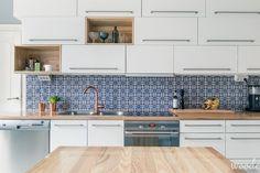 Moroccan tile & white kitchen
