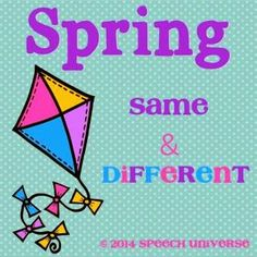 Speech Universe: Spring Freebie!!!! Same & Different Activity! Pinned by SOS Inc. Resources @SOS Inc. Resources.