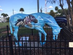 One of Ocala's famous painted horses. Photograph by Laurie McNemar, March 2017.