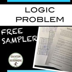 Logic Puzzles: FREE logic puzzle sampler is a ready to use logic problem for your class.  Great for math centers, time fillers or bell ringers.For more logic puzzles check out:-  May Logic Puzzles- Fall Logic Puzzles- Winter Logic Puzzles - Spring Logic Puzzles - April Logic Puzzles This purchase is for one teacher only.