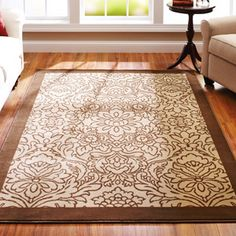 "Better Homes and Gardens 7'10"" x 10'10"" Floral Damask Rug"