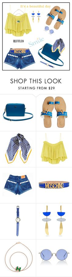 """""""Add Some Flair: Ruffled Tops♥♥♥"""" by marthalux ❤ liked on Polyvore featuring Lacoste, Penelope Chilvers, Black, Apiece Apart, Moschino, Movado, Isabel Marant, Acne Studios, ruffles and add"""
