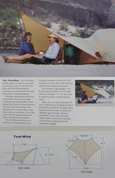 The Moss Tent-Wing, introduced here in the 1992 Moss Tent catalogue  www.billmosstents.com