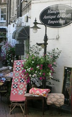 Londres - Hampstead - courtepointes antiques