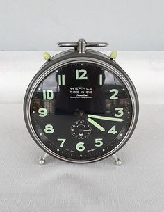 Vintage Wehrle alarm clock Striking mantel clock Three in One