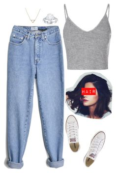 """Monica Geller"" by queen-leo-1999 ❤ liked on Polyvore featuring beauty, Glamorous, Converse and Banana Republic"