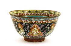 Late 19C Chinese Thai Famille Rose Benjarong Bowl