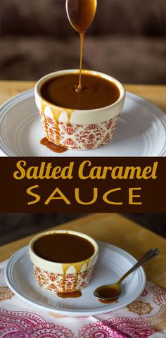 Salted Caramel Sauce -  Enjoy this luscious Salted Caramel Sauce on anything, from ice cream to pretzels, and much, much more.  #saltedcaramel