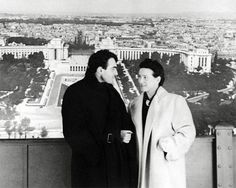 Simone de Beauvoir and Claude Lanzmann, Paris, 1952. Lovers. He lived with her for eight years.