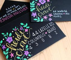 Kirarina Wink Markers & Decorating Envelopes = Kristina's writing is SO gorgeous.