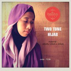 Two Tone : Purple & Light Purple - square #hijab