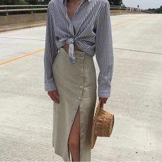 Stripes and kaki
