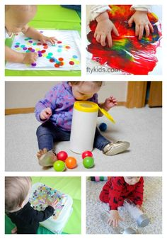 A fun collection of the best Simple Baby Play Ideas.Babies can explore colour, shape, texture, and sound with these easy play ideas for your baby.