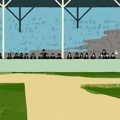 Painting people one by one #wip #process #illustration #イラストレーション #イラスト #tatsurokiuchi #baseball #ballpark #art #life #happy