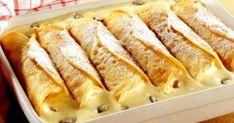 Gebackene Vanillecreme-Crêpes - German dessert recipe at its finest – Baked Vanilla Cream Crepes *** German Desser Recipe at its - Cake Recipes Without Oven, Cake Recipes From Scratch, Easy Cake Recipes, Sweet Recipes, Dessert Recipes, Crepes, German Desserts, Sweet Desserts, Easy Vanilla Cake Recipe