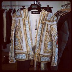 Balmain Fall 2012 embellished jacket