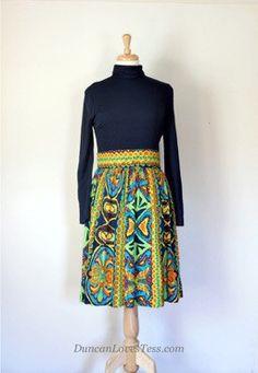 c55a53cde0 60s   70s Knit Day Dress Vintage 70s
