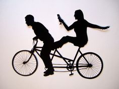 tandem mountain bike clipart - Google Search