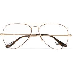 b1f0bdfd15 Ray-Ban Aviator gold-tone and tortoiseshell acetate optical glasses  (2.225.415