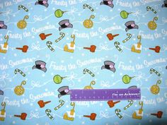 Frosty The Snowman Christmas Magic Hat Light Blue Cotton Fabric By The Half Yard by DaMommasTextiles on Etsy