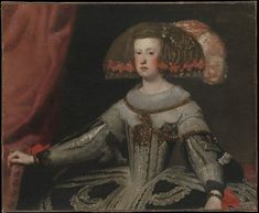 1652-1653 - Mariana of Austria (1634–1696), Queen of Spain by Workshop of Velázquez
