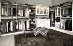 Unique Storage and Organizers offers high-quality custom closet organizers, garage cabinets, and closets systems: Calgary Edmonton & Abbotsford Free in-home consultations. We can help you design the perfect solution. Closet Storage Systems, Best Closet Organization, Closet System, Walk In Closet Design, Closet Designs, Bedroom Designs, Bedroom Ideas, No Closet Solutions, Walking Closet