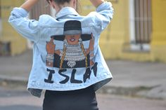 Hand painted formation beyoncé custom jacket by @ceuhandmade