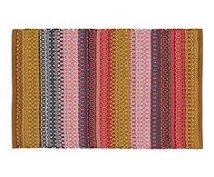 Kilim artesanal de algodón India, multicolor - 60x90 cm