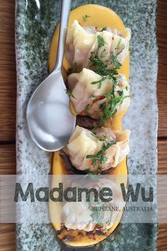 This review of Madam Wu is based on the banquet from the main menu. Madam Wu is a modern Chinese fusion style restaurant located on the river in Brisbane.