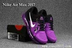 Nike Air Max 2017 Women Black Purple KPU Run Shoes
