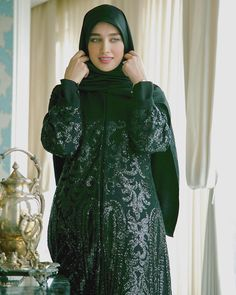 Image may contain: 1 person, standing Iranian Women Fashion, Muslim Fashion, Womens Fashion, Casual Hijab Outfit, Hijab Dress, Stylish Clothes For Women, Stylish Outfits, Cute Formal Dresses, Street Hijab Fashion