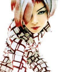 white and red hair, manga hairstyle - color hairspray - elle magazine - nicolas jurnjack -  hair archives - CREDITS: elle japan shot in paris at studio rouchon, photo: christophe kutner, make up:  fred farrugia, hair : nicolas jurnjack. https://www.pinterest.com/NICOLASJURNJACK/ Nicolas Jurnjack Hair Archive