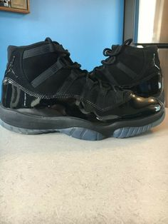 09a4c5003d6be Air Jordan 11 Retro Cap and Gown Size 10.5 Black Black Black Limited Edition