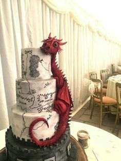 Tagged with wedding, awesome, cake, dragon, lotr; Shared by WullieBlake. Lord of the wedding cakes Crazy Cakes, Fancy Cakes, Pink Cakes, Crazy Birthday Cakes, Dragon Birthday Cakes, Geek Birthday, Happy Birthday, Birthday Ideas, Birthday Cards