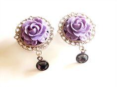 purple rose and dangle plugs