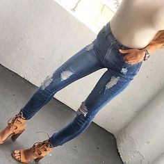 RESTOCKED!! Dakota High Waisted Skinnies!! Shop Clothesenvy.com!!