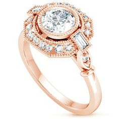 14K Rose Gold Ostara Diamond Ring (1/4 ct. tw.) #BrilliantEarth #BelleEpoque