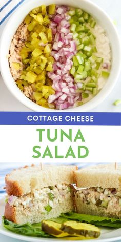Cottage Cheese Tuna Salad recipe from Family Fresh Meals via @familyfresh
