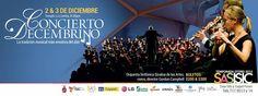 La temporada de otoño #SAS-#ISIC te invita a su tradicional Concierto Decembrino, con la Orquesta Sinfonica Sinaloa de las Artes (#OSSLA) bajo la Dirección del Mtro. Gordon Campbell. 2 y 3 de diciembre de 2014 en el Templo La Lomita, a las 20:30 horas. Boletos: $200 y $300 Mayores informes al 717.95.13 y 14 #Culiacán, #Sinaloa.
