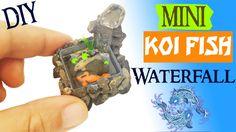MINIATURE KOI POND WATERFALL polymer clay & resin tutorial | Miniatures ...