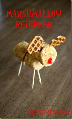 Marshmallow Reindeer - Virtual Book Club for Kids - The Wild Christmas Reindeer by Jan Brett