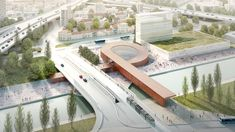 Danish firm Bjarke Ingels Group has teamed up with French studio Silvio d'Ascia Architecture to design a loop-shaped station for a new stretch of the Paris Metro.