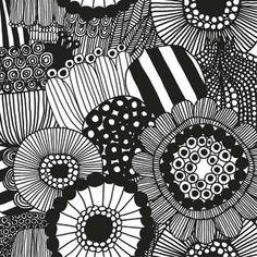 Make Designed Objects : Marimekko Fabric - Siirtolapuutarha Viol Orla Kiely Fabric, Marimekko Fabric, Contemporary Cushions, Monochromatic Color Scheme, Poppy Pattern, Idee Diy, Sgraffito, Decoration, Red Flowers