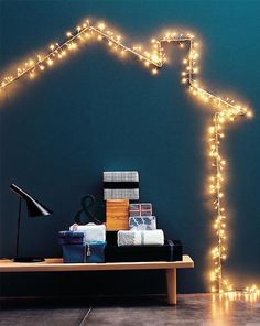so cute!! loving the idea of twirling fairy lights around a wire frame bent in any theme specific shape!