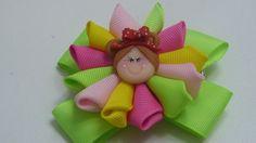 Lazos escolares sencillos  pequeños, Moño  y flor de liston para niñas