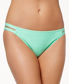 California Waves Strappy Hipster Bikini Bottom