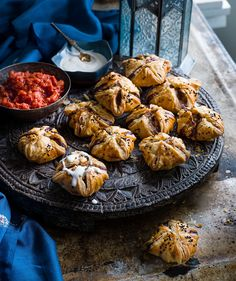 Try our lamb kofta puffs with tahini and tomato sauce recipe. Our easy lamb kofta recipe uses puff pastry. Make our lamb koftas for an easy Christmas canapé Canapes Recipes, Chef Recipes, Sauce Recipes, Meze Recipes, Savoury Recipes, Pastry Recipes, Top Recipes, Yummy Recipes, Christmas Canapes